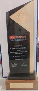 Apreciation To Nissho For Excellent Quality and Delivery Award